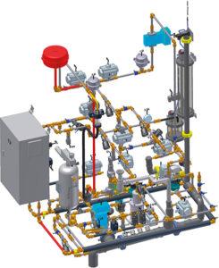 Hydrauliksystem des Prüfstandes