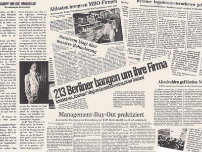Pressebeiträge 1991 - 1993