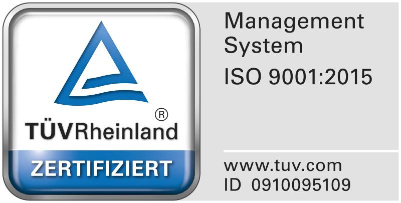 ISO 9001:2015-Zertifikat