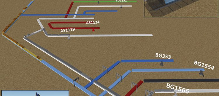 Transportmodell für Tagebau