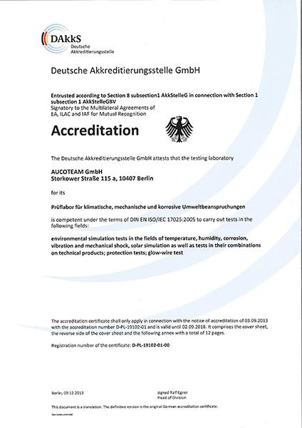 DAkkS-Zertifikat