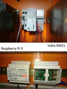 Einbau Indra XM21 und Raspberry Pi 3 an die Steuerelektronik der CNC-Drehmaschine