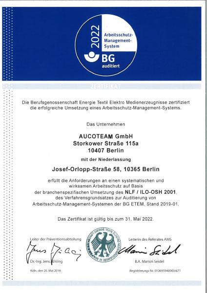 AMS-Zertifikat